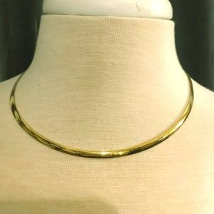 Jewelry - Two Tone SS/Gold Reversible Omega Chain Necklace